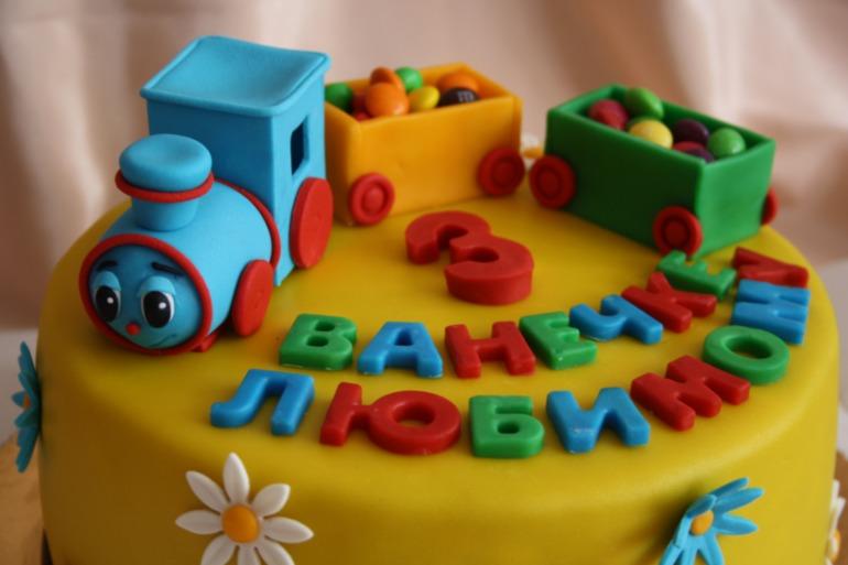 Торт из мастики для мальчика 2 года своими руками фото 17