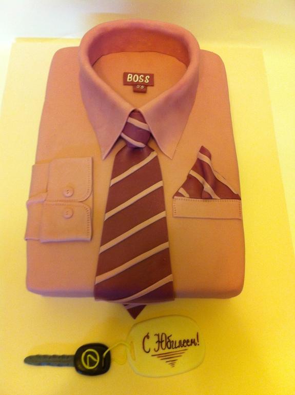 Торт рубашка с галстуком фото