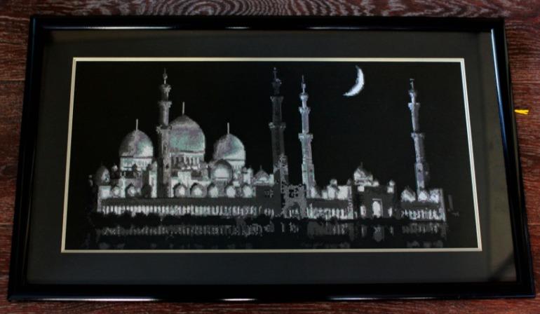 Вышивка мечети шейха зайда