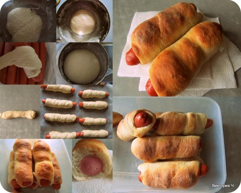Сосиска в тесте рецепт с фото в домашних условиях 988