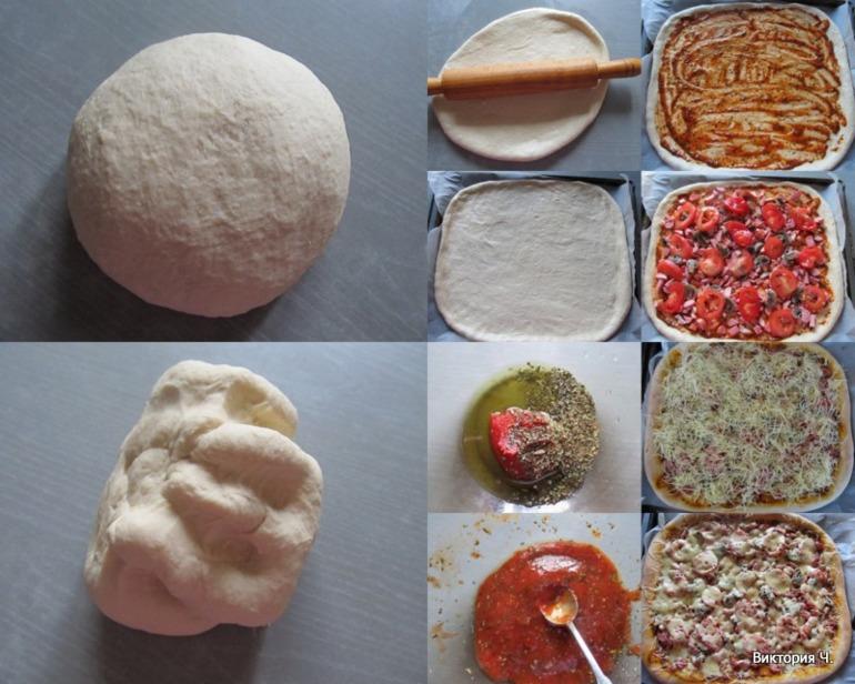 Пицца на тонком тесте фото