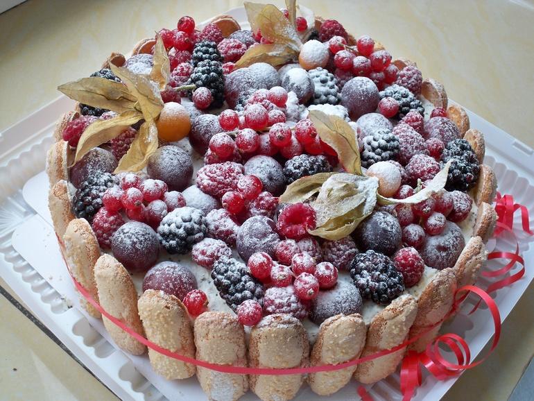 Торты как украсить фруктами