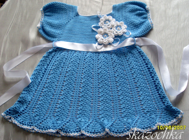 Детские платья крючком своими руками 66