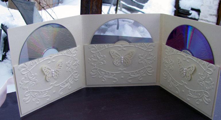 Как сделать свадебный конвертик для диска
