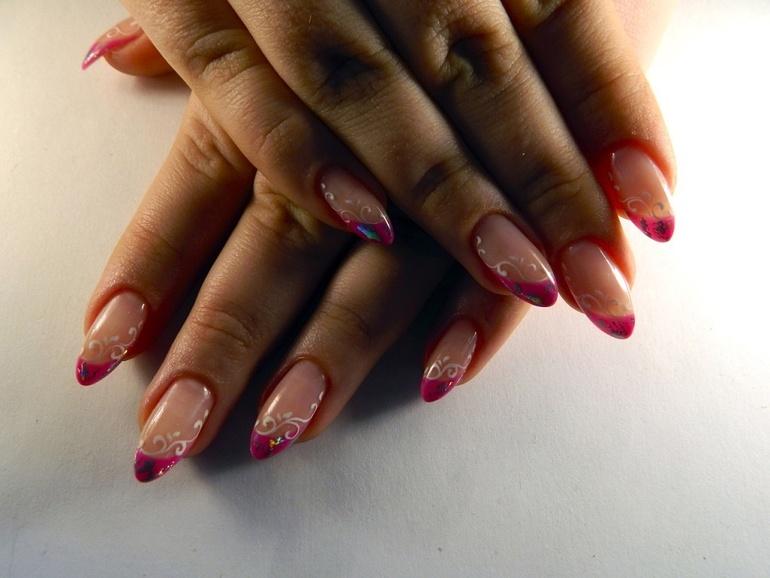 Ангелина наращивание ногтей