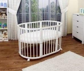 детская кроватка-трансформер круглая фото