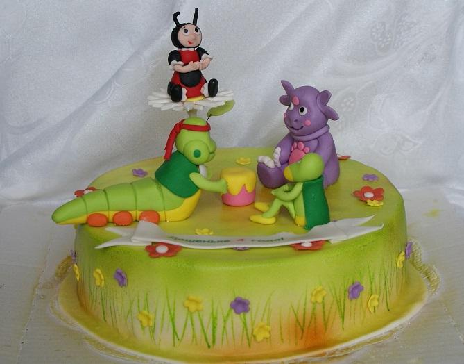 Торт в виде лунтика из мастики мастер класс