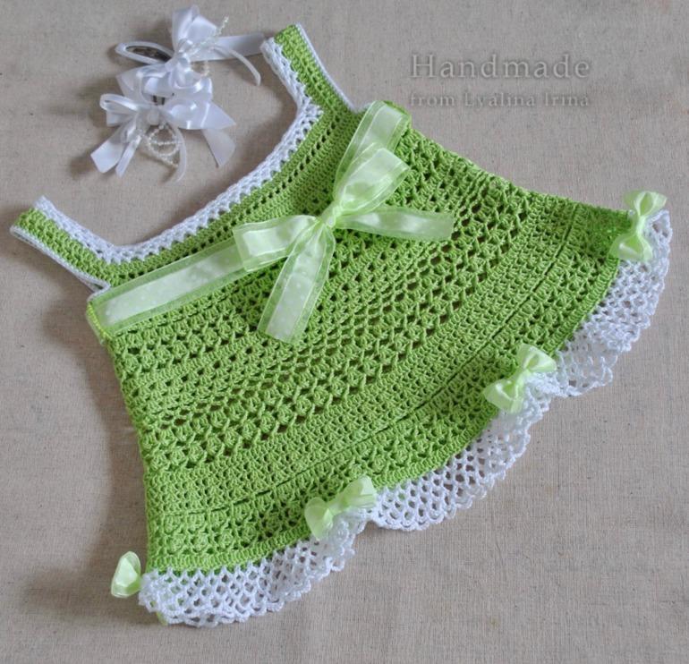 Вязание для девочек крючком майки 181
