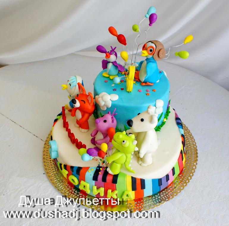 Кулинарный детский торт пингвиненок поророро фото