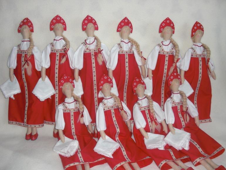 Тильда в русском костюме