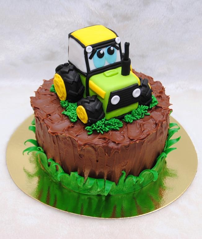 Торты - трактор, фото