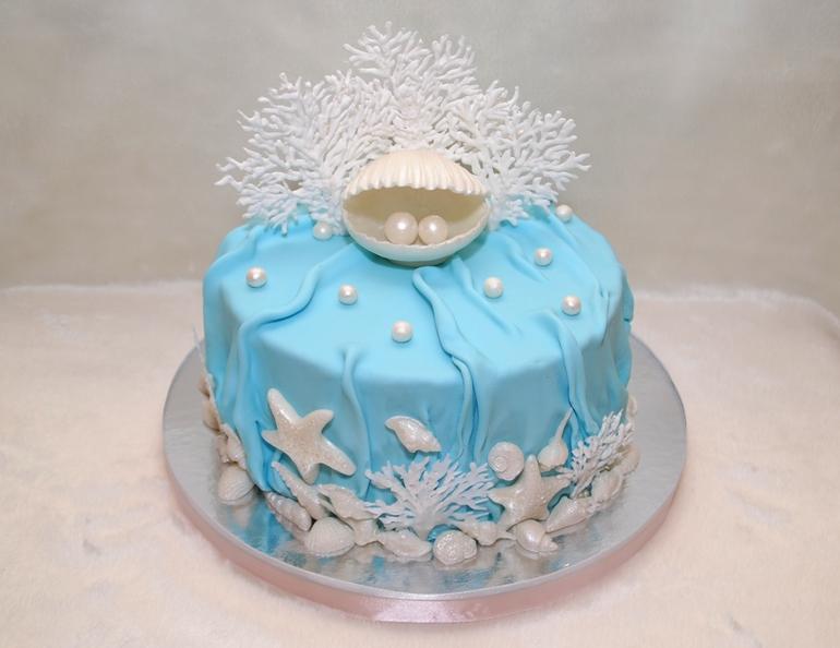 Как сделать на торт голубой 5