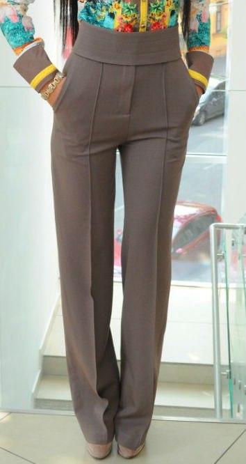 брюки с высокой талией мужские