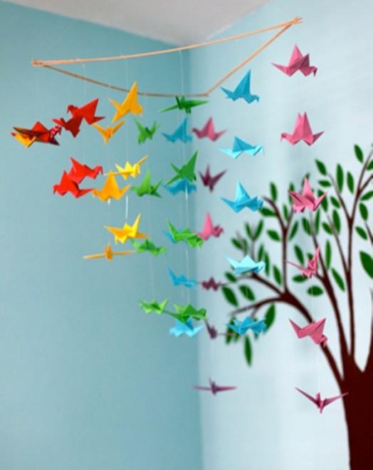 Птички своими руками на потолок