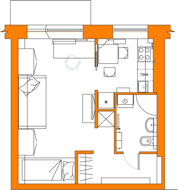 Планировки квартир дом серии И-209А - Кирпичные и