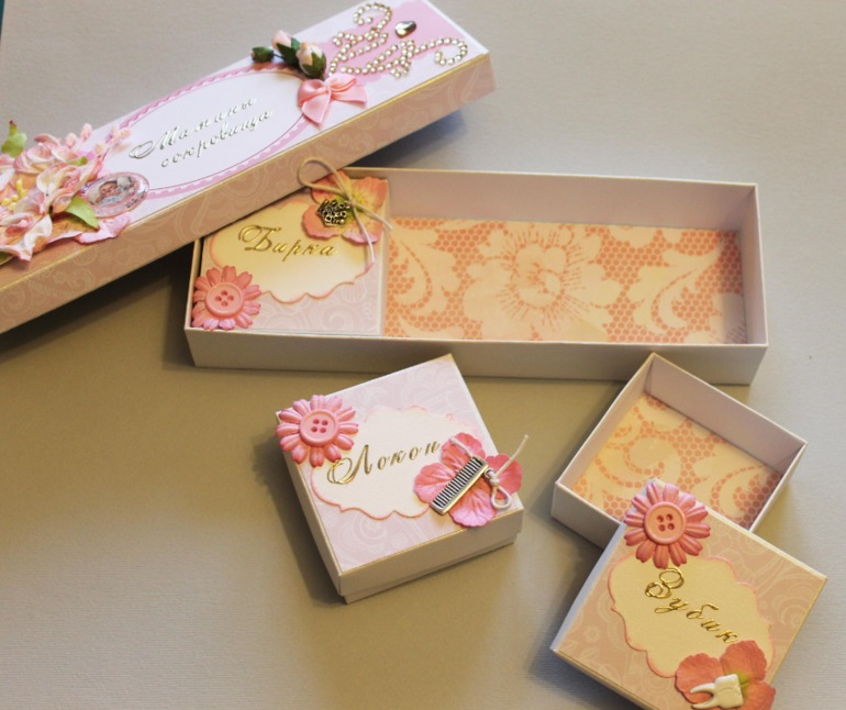 Как сделать коробку для мамы своими руками 83