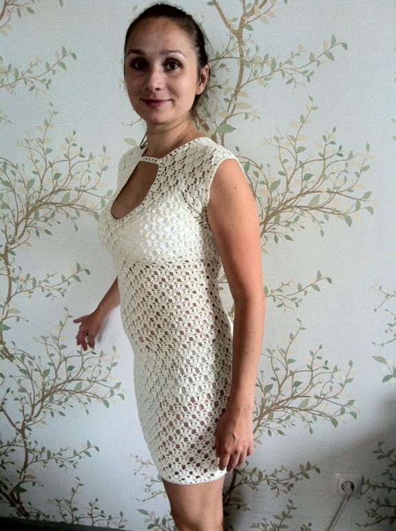 Вязаные маечки платья секси крючком
