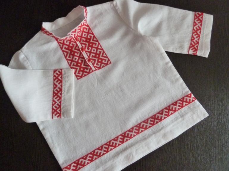 Схема вышивки на русскую рубаху