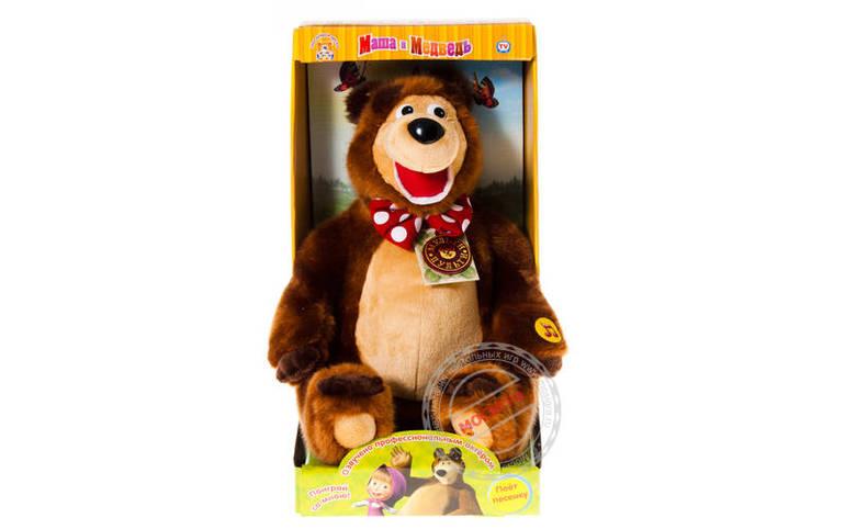 Игрушка мягкая медведь из мультфильма маша и медведь