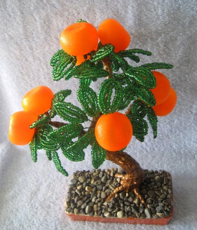 Декоративное мандариновое дерево своими руками 76