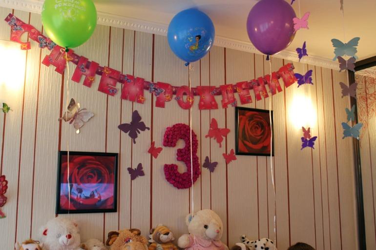 Как украсить комнату на день рождения мальчика своими руками фото
