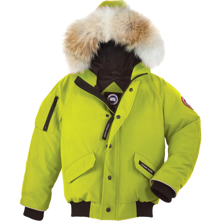 lime green canada goose jacket