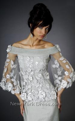 Лиф Платья С Тонкими Цветочными Узорами Для Невесты