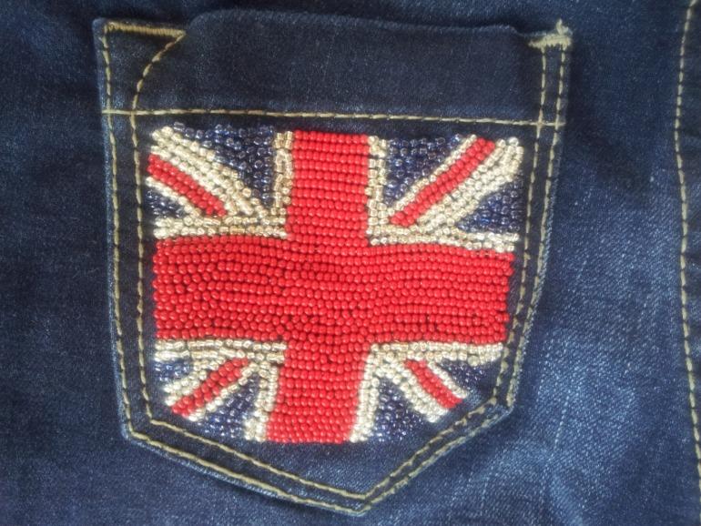 Английский флаг вышивка 90
