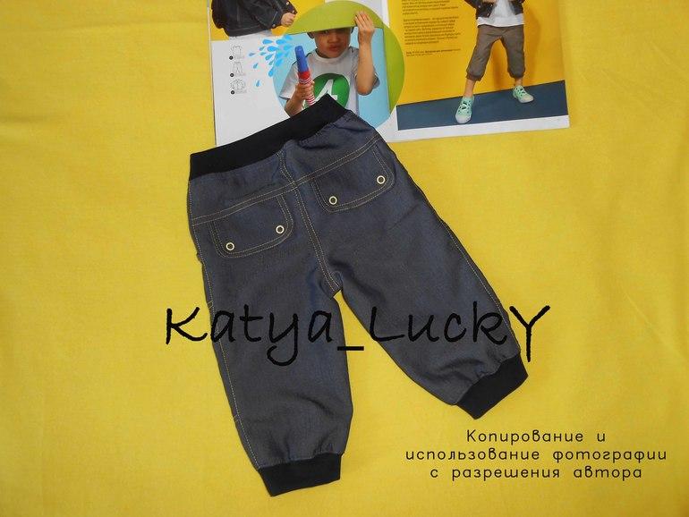 Сшить брюки на мальчика из старых джинс 25