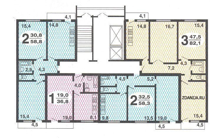 Размеры балконов серия дома 101..