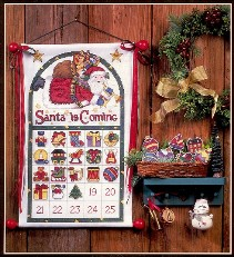 Схема вышивки адвент календаря