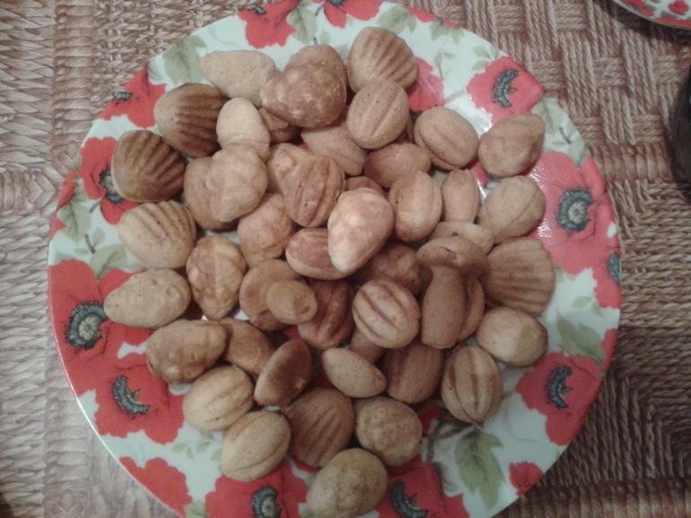 печенье грибочкив форме на газу рецепт