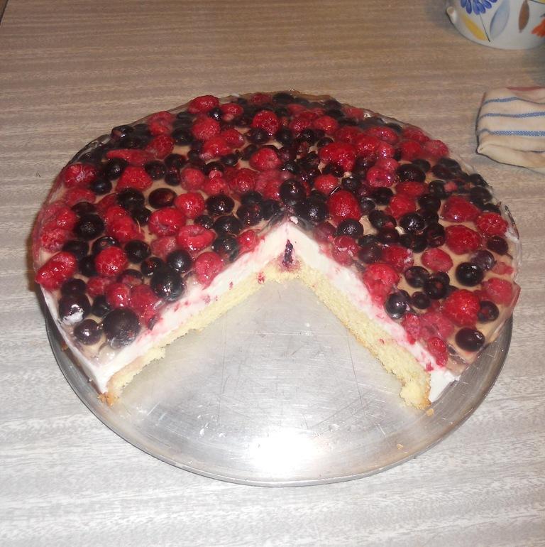 пирог с ягодами в желе рецепт с фото
