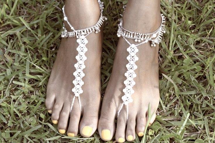 Украшения для ног схемы
