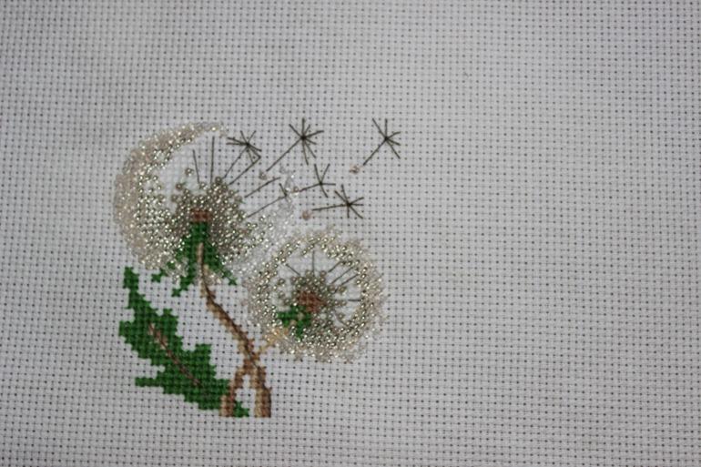 Одуванчики вышивка крестиком схемы