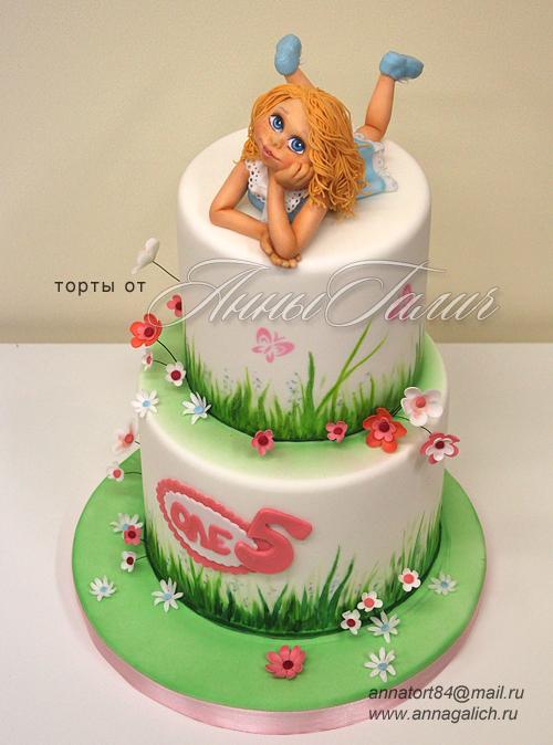 Тортик на 30 лет для девушки - c388