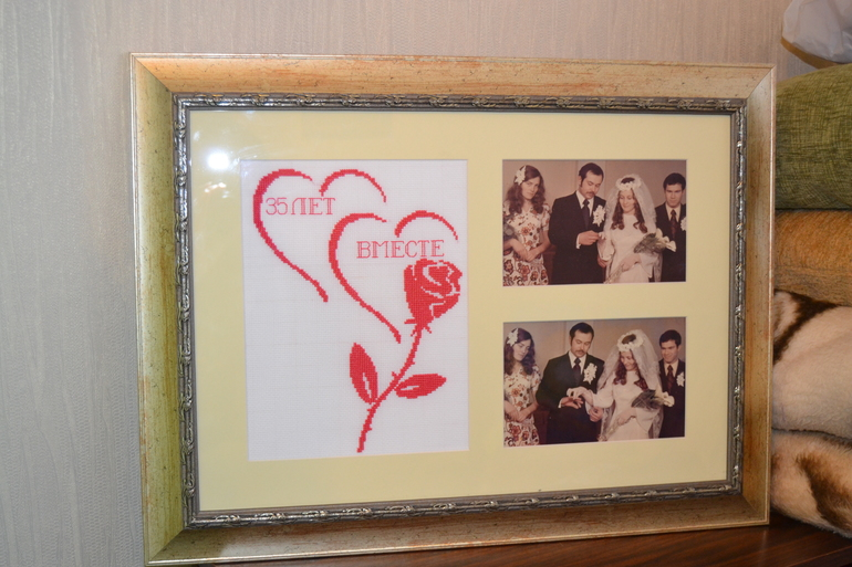 Подарок на годовщину свадьбы своими руками