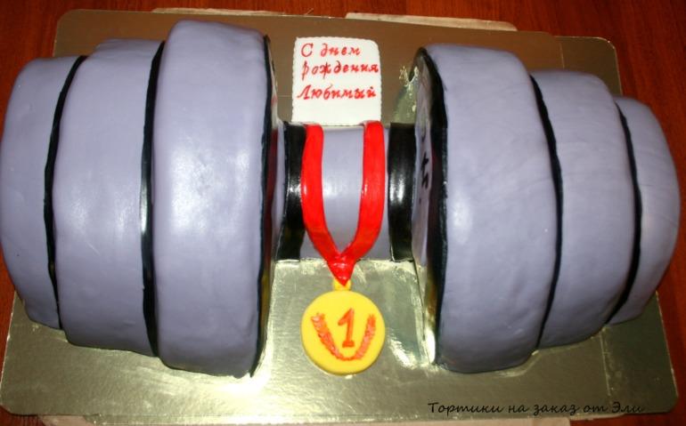 торт гиря фото