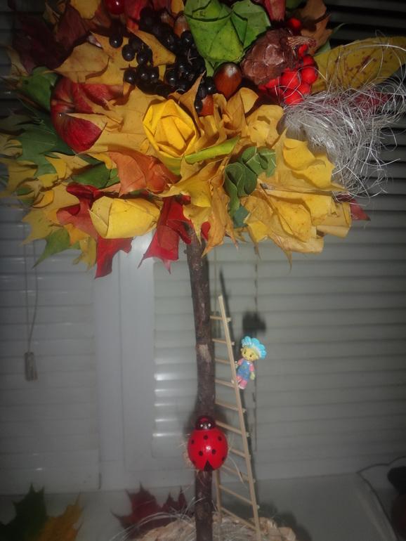 Осенний топиарий своими руками фото 12