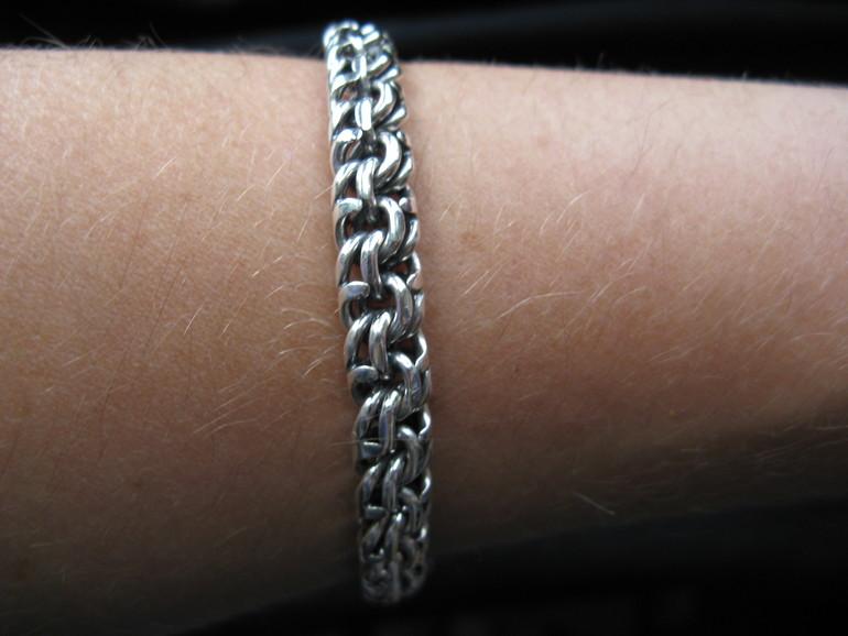Мужские браслеты из серебра ручной работы