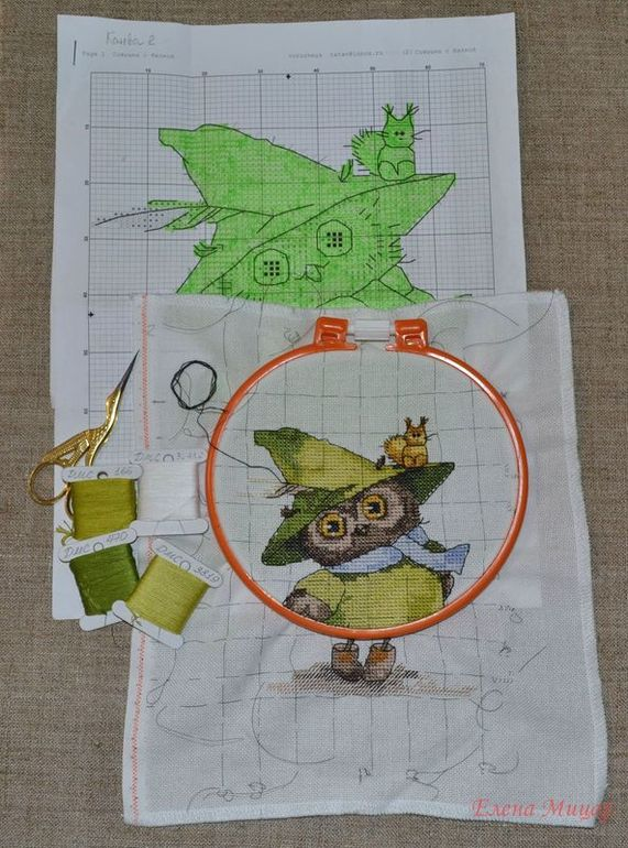 Вышивка крестом совы инги пальцер 22