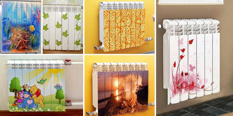 Рисунки на радиаторах отопления своими руками