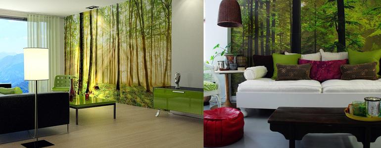 Дизайн фотообоев для квартиры