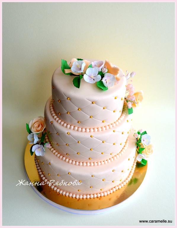 Свадебные трех ярусный торты фото