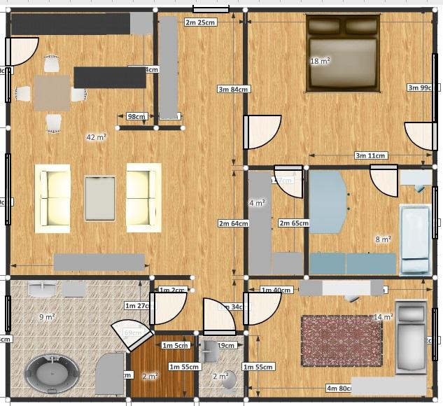 Две двери в комнате дизайн 47