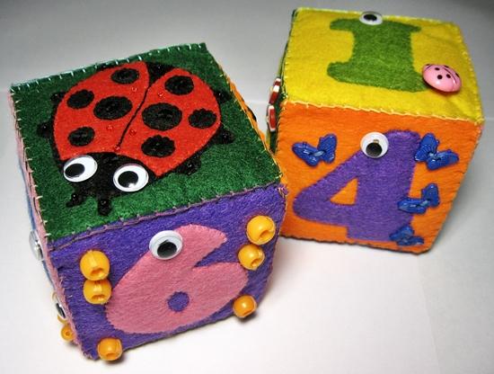 Кубики из фетра своими руками