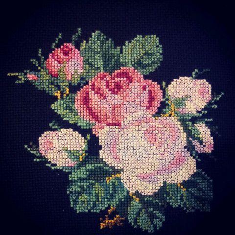 закачала кучу схем с розами