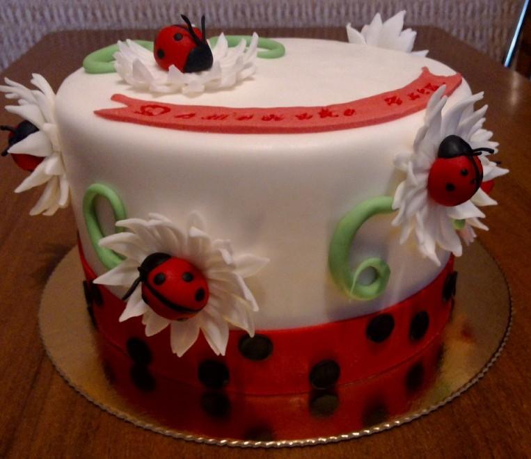 Торт с божьей коровкой фото