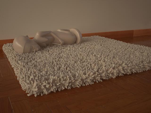 Пушистый коврики своими руками