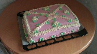 вот такой торт  я делала на день рождения моей младшенькой!